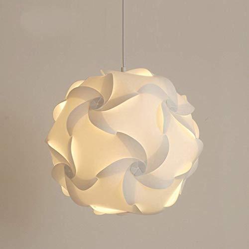 no-branded Sygjal Folding Blumen-Kugel-hängende Lampe Acryl Kunst Restaurant Cafe E27 Durchmesser 34CM warmes Licht