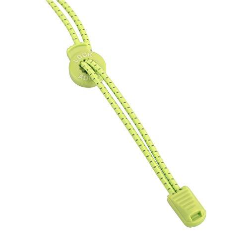 SALUTUYA Cordones de Zapatos, Sistema de Bloqueo Flexible Reflectante Seguro, para Correr, para Caminar(Fluorescent Yellow)