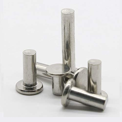 Stem Length: M8x45mm Ochoos 2pcs M8 flat rivet solid aluminum rivets hand tapping 35mm~50mm length