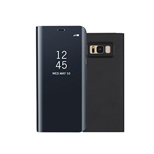 Aursen Custodia Samsung S8 Cover a Specchio Samsung Galaxy S8 Ideale per porteggere Telefono - Nero