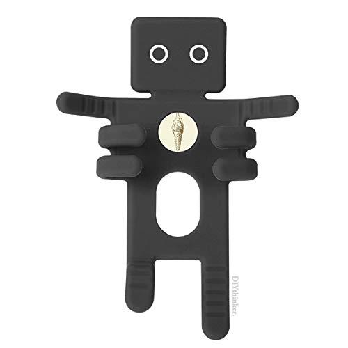 DIYthinker bruin hand tekeningen zoete ijs zwart telefoon mount auto dashboard houder mobiele telefoon cadeau