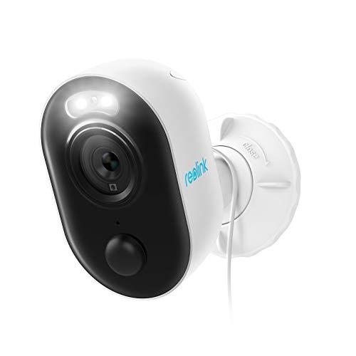 Reolink Lumus WLAN IP Kamera Outdoor mit Licht Spotlight, 1080P Überwachungskamera Aussen mit 2-Wege-Audio, Bewegungserkennung + PIR, Micro SD-Kartenslot, Netzkabel 3 Meter, 2020