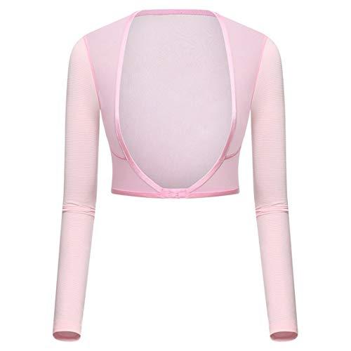 Bolero para Mujer [Nuevo Tipo] Brazo de Refrigeración Anti UV UPF 50 Protección Solar Manguitos Adecuado para Golf Tenis Ciclismo Correr y Otros Deportes al Aire Libre (Rosa)