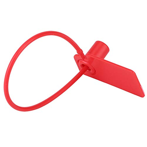 FAMKIT 100 Piezas Cable de Etiqueta Desechable Marcas de Identificación Coloridas Corbatas Antirrobo de Bloqueo Automático (Rojo)