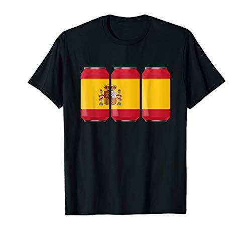 Latas de cerveza patrióticas frescas España España Camiseta