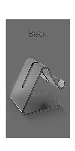 LYLFF®Solid Aluminium Metalen Desktop Stand voor Mobiele Telefoon Tablet PCmobile telefoonhouder voor bed Flat bracket Meerdere kleuren om uit te kiezen, Zwart