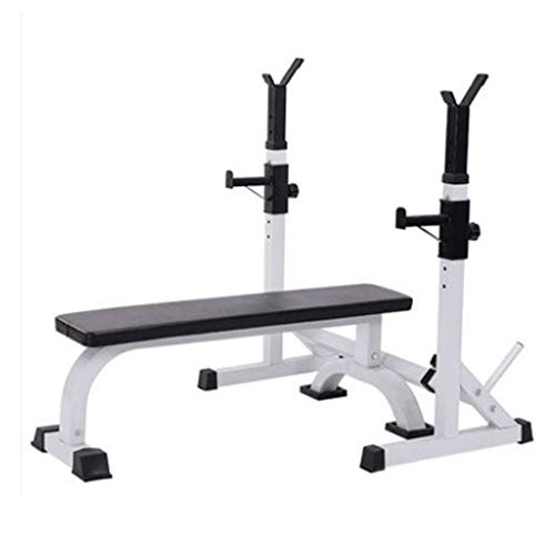 LZL Soportes Jaula de Sentadillas, 661LBS MAX LoadAdjustable sentadilla Power Bar Soporte Peso Banco de Peso de elevación de Cama-Press de banca Home Gym Equipment (Color : White)