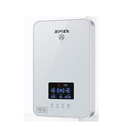 LYHY Calentador de Agua Caliente electrónico de Temperatura Constante de baño instantáneo de 8KW con Pantalla LCD (Color: Negro)