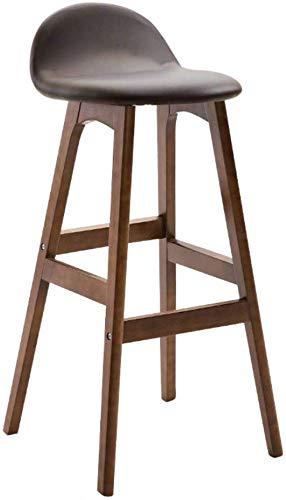 QTQZDD barkruk hoge kruk houten stoel barkruk ontbijtshocker restaurant- en zitkeuken ontbijttafel café met 150 kg eettafelstoel, hout 3 3
