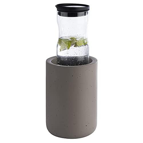APS Flaschenkühler Element aus Beton - mit möbelschonender Unterseite - für 0,7-1,5 Liter-Flaschen - Ø 12/10 cm, Höhe 19 cm, Grau