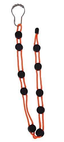 Plus Nao(プラスナオ) 靴下 洗濯 ロープ 物干しロープ ソックス くつ下洗い紐 整理 収納 省スペース 乾燥ロープ 調節可能 滑り止め 物干し - オレンジ