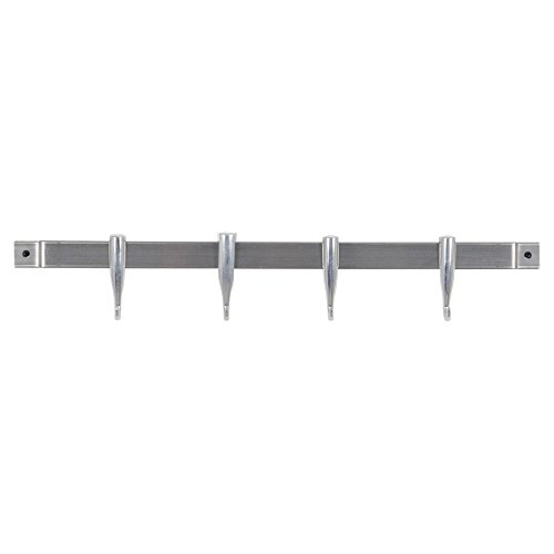 Concept Housewares Brushed Stainless Steel Utensil Kitchen Wall Rack