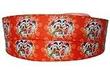 Mickey & Minnie Mouse Navidad 2 m x 22 mm de ancho para pastel de Navidad, cinta de regalo, cinta de decoración e ideas de decoración para arcos presentes o bolsas de embalaje, caja de globos con secuencias de tarjetas, arte y manualidades