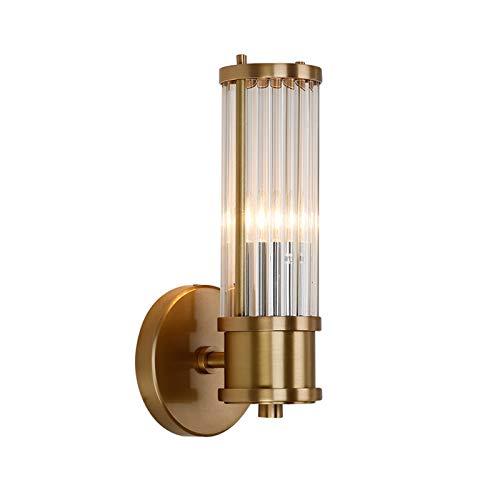 Aplique de pared Lámpara de pared de cristal de lujo Lámpara de noche Lámpara de noche Postmoderna Sala de estar Fondo de pared Pasillo de pared Luz de vanidad Light Finxture Decorativa Lámpara de par