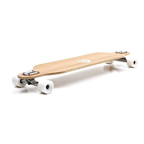 White Wave Bamboo Longboard Skateboard Complete (Cruiser)