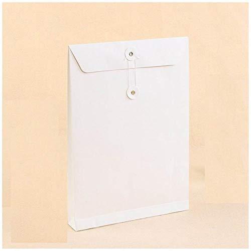 Heng 10st blanco kraftpapier Kartonnen envelop Verticale documenten Zakken Bestandstas Geschenk Kledingstuk Verpakkingszakken, wit