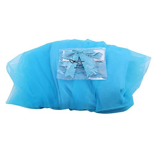 Weiy Jupe de Table Moelleuse en Maille, Jupes de Tableaux à nœud Papillon pour Les fêtes d'anniversaire de Mariage,Bleu