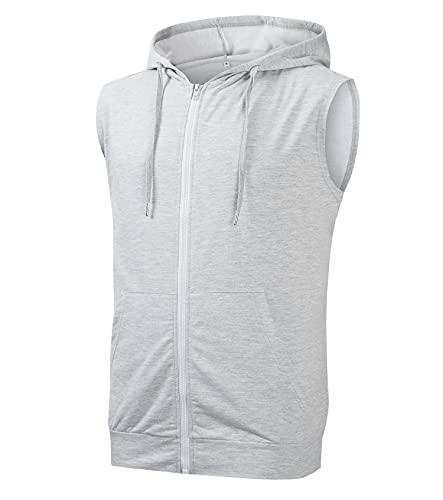 Cabeen Hombre Sudadera con Capucha Deportivas Gimnasio Chalecos Camiseta Sin Mangas de Fitness