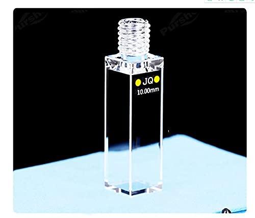 Xue Mei Zi Capacidad Fluorescente de la cubeta de Fluorescencia del Hilo de Cuarzo 3. 5ml TRAPUESTA ÓPTICA 10 MM Transmitancia de luz 80% (Coincidencia de Datos) Dimensiones 12.5x12. 5x58 mm