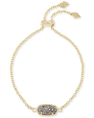 Kendra Scott Elaina Link Chain Bracelet for Women, Dainty Fashion Jewelry, 14k Gold-Plated, Platinum Drusy