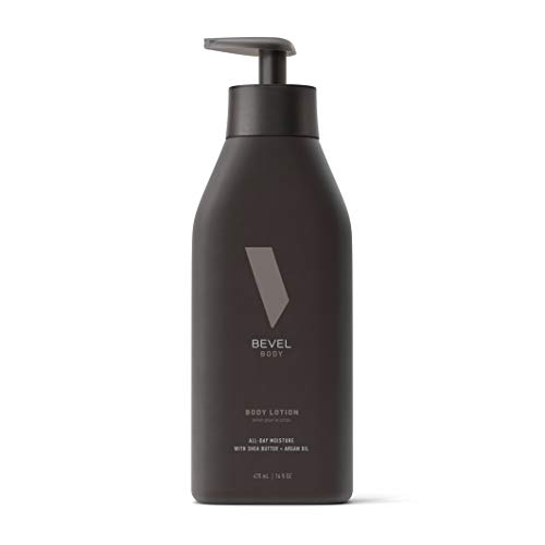 All Day Body Lotion for Men by Bevel - Mens Lotion with Shea Butter, Argan Oil, Vitamin B3 and Vitamin E, 6 oz.