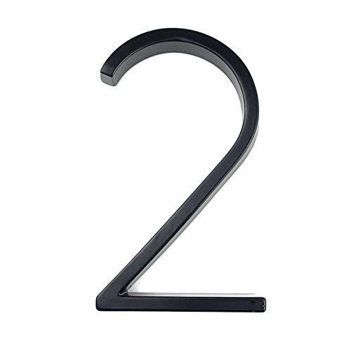 Numero de casa 127 mm de Big Modern House Hotel Home Número Número Exterior Puerta placa de dirección de aleación de zinc Número de House Dirección Señal (Color : 2)
