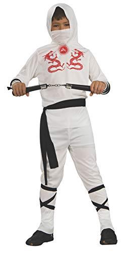 Haunted House Child's White Ninja Costume, Small