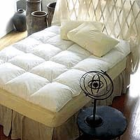"""Pacific Coast Baffle Box Feather Bed-Featured in Many Marriott Hotels (King 76"""" x 80"""")"""
