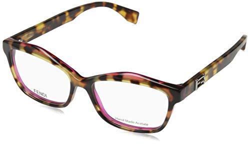 Fendi Brillengestelle FD 0094 0D4Y Rechteckig Brillengestelle 52, Gelb