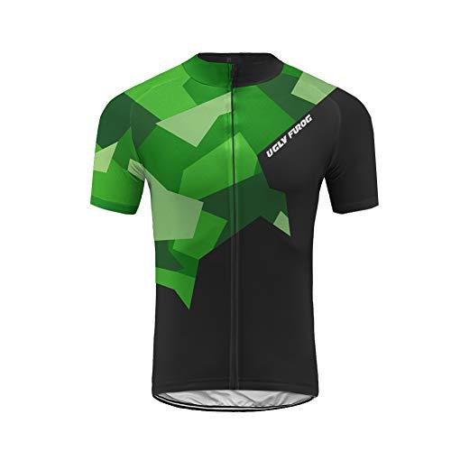 Uglyfrog Rennrad MTB 2019 Herren Radtrikot Shirt Kurzarm Pro Team MTB Radfahren Top Radshirt Atmungsaktiv Durchgehender Reißverschluss DEHerren25