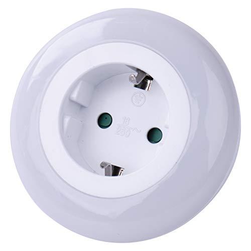 EMOS P3308 Nachtlicht Steckdose mit Dämmerungssensor, Schutzkontaktsteckose für 3680 W, Orientierungslicht für Kinderzimmer, Treppe, Schlafzimmer, Küche, Flur