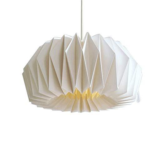 Hängeleuchte Esszimmer,Kronleuchter Schlafzimmer,Pendelleuchte Wohnzimmer,Hängelampe Küche Büro Deckenlampe,Personalisierte Origami Lampenschirm Warme Lampe Origami Lampe