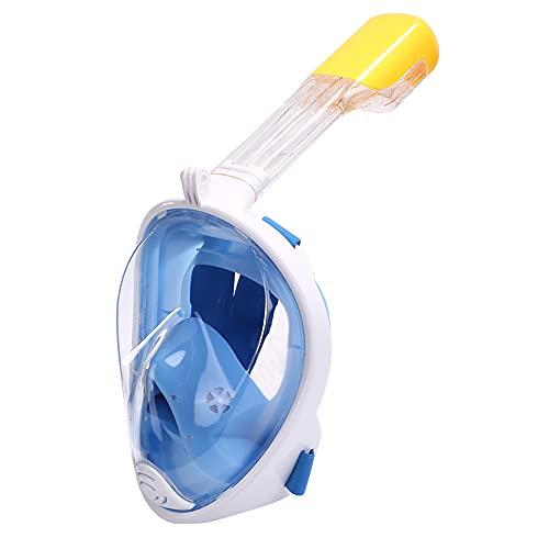 InnerSetting Máscara de esnórquel para natación y buceo, gafas de respiración (azul L/XL)