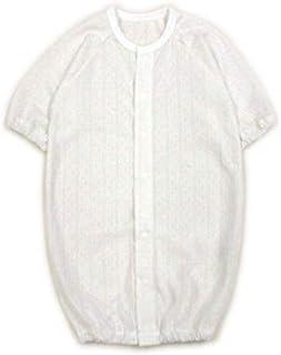 ◇日本製◇透かし編み2wayドレス(ツーウェイオール) 長袖 ホワイト 綿100% 50-60cm