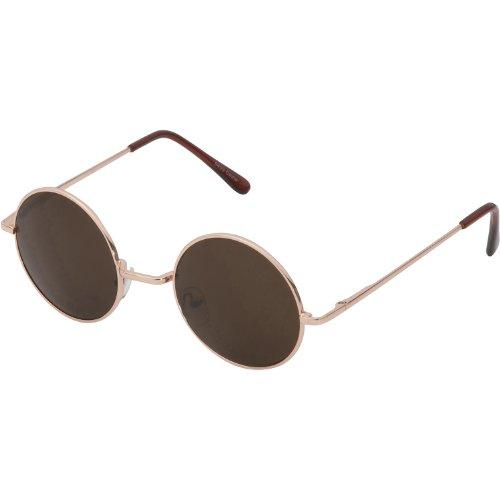 of grinderpunch sunglasses for men grinderPUNCH Round Circle Vintage Retro Metal Sunglasses Unisex (gold - brown lens, uv400)
