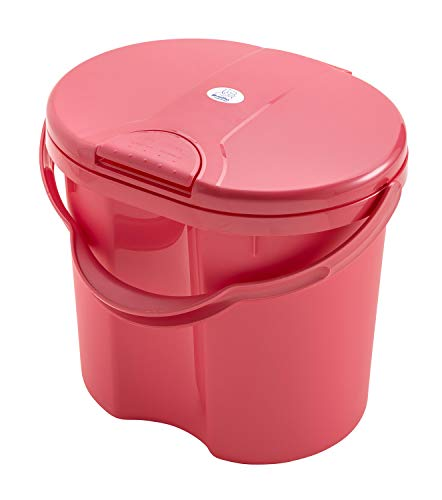 Rotho Babydesign Seau à Couches, 11 L, TOP, Sunset Red Pearl (Rose Foncé)