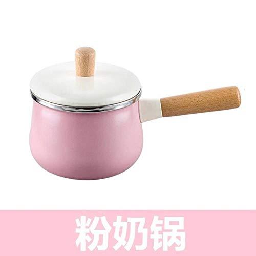 Ltong Keukenpotten Geëmailleerde soeppan Boiler Melkpan Niet-plakkerige koekenpan met inductieschotel en gasfornuis Instant Pot, melkpot 1.8L