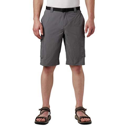 Columbia Pantalones Cortos Silver Ridge Cargo para Hombre, Transpirables, protección Solar UPF 50, Silver RidgeTM, Hombre, 1441706, Gris Ciudad, 46x12