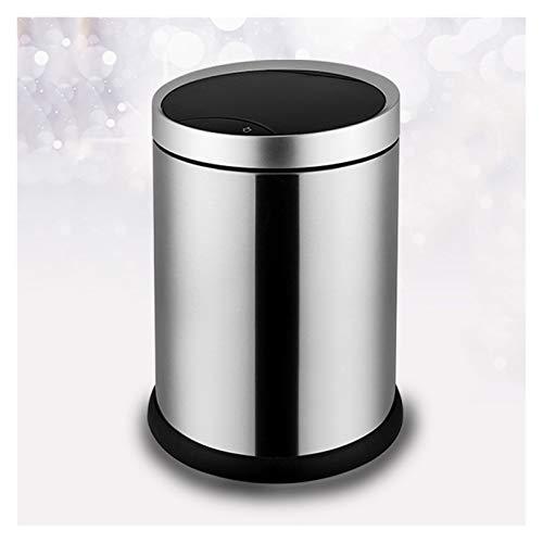 NYKK Papeleras Basura para el hogar con Tapa de Acero Inoxidable de Acero Inoxidable Basura automática de la inusión de 5 galones de Basura sin Toque para el hogar, la Cocina, la Oficina
