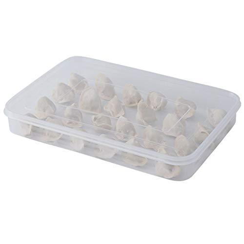 VIccoo Keuken Koelkast Crisper Dumplings Opbergdoos Met Deksel Vriezer Koelkasten Ruimtebesparend voedsel Organisator Houder Lade Gereedschap - Transparant