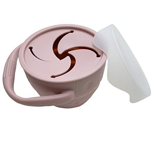 XL Plastikfreier Snack Becher, praktische Aufbewahrung für unterwegs, Snack Box mit Deckel (rosa)