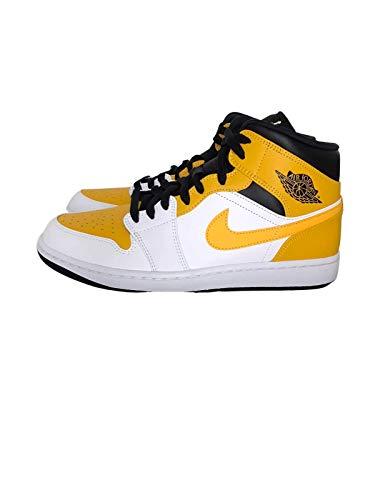 Nike Air Jordan 1 MID White/University Gold-Black 554724 170