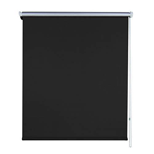 Aufun Verdunkelungsrollo Thermorollo Seitenzugrollo Seitenzug Klemmrollo ohne Bohren Klemmfix (100 x 160 cm, Anthrazit)