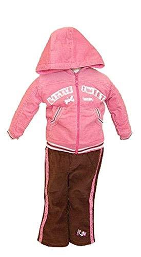 WIT Baby Mädchen Bekleidungsset, Gr.80, Cordanzug Freizeitanzug Kinder, 2tlg