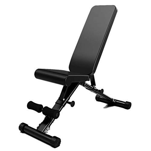 BATOWE Hantelbank Fitness Stuhl Fitness Startseite Sit-up Brettbauchmuskeln Multifunktionsfitnessgeräte Faltbare Push-up-Bank Verbesserung der körperlichen Fitness (Size : 125x40.5x48cm)