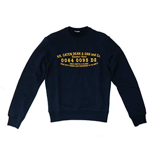 DSQUARED2 D2 trui, pullover voor jongens (14 jaar), blauw met print, NIEUW 100% origineel
