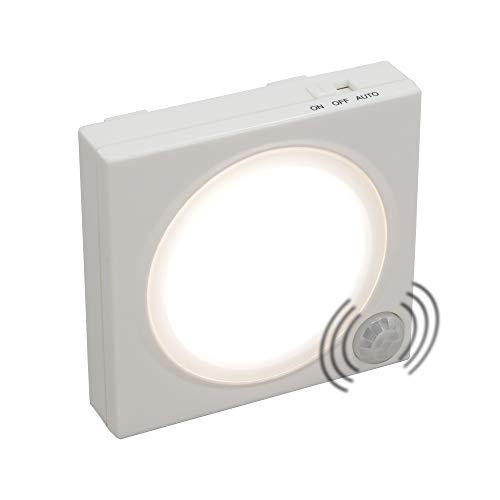 Ansmann LED-Guide Free Motion - Luz de orientación LED (sensor crepuscular, sensor de movimiento integrados, alimentada por batería), color blanco