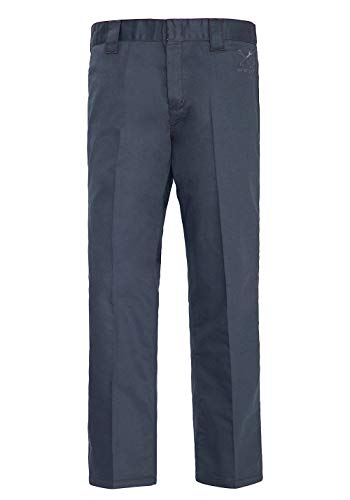 King Kerosin Garage Wear Pantaloni, Grigio, 31W/ 32L Uomo