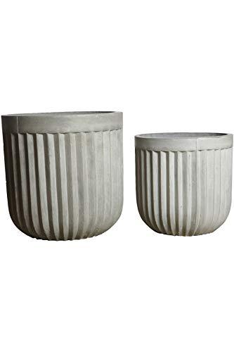 House Doctor Pot de Fleurs pour béton Gris 40 x 40 cm