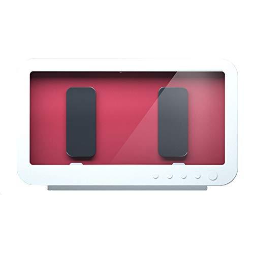 SXYB Badezimmer wasserdichte Telefonkasten, drehbare wasserdichte Box, 360-Grad-Surround, kein Nebel, hochauflösender Bildschirm, 60-Grad-Fester Öffnungswinkel,Weiß